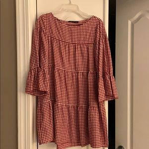 Zara gingham ruffled dress